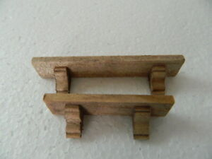 (HH20) DOLLS HOUSE HANDMADE X 2  STAINED( Walnut) WOODEN  SHELVES