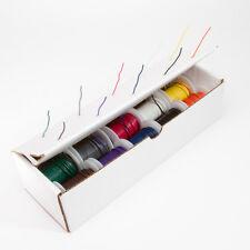 """20 AWG Gauge Solid Hook Up Wire Kit 25 ft Ea 0.0320"""" 10 Color UL1007 300 Volt"""