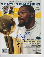 KEVIN DURANT (Warriors) Signed SPORTS ILLUSTRATED with Beckett COA (NO Label)