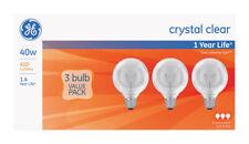 GE  40 watts G25  Globe  Incandescent Bulb  E26 (Medium)  Warm White  3 pk