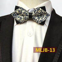 Mens Vintage Paisley Flower Adjustable Bow Tie Wedding Party Retro Bowtie NEW