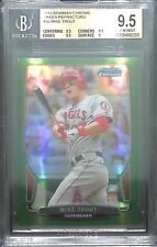 2013 Bowman Chrome Green Refractor #50 Mike Trout BGS 9.5