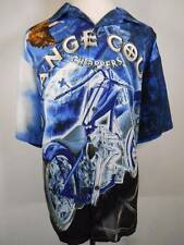 Cool Men's XXL OCC Orange County Choppers Blue SS Shirt Multi-Color Motorcycle