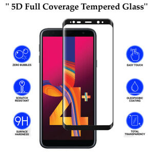 5D Anti Scratch 9H Tempered Glass Screen Protector for Samsung Galaxy J4 Plus