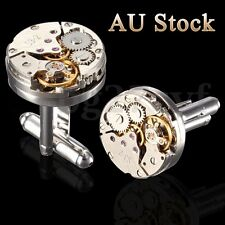 Vintage Watch Movement Cufflinks Men's Shirt Wedding Cuff Links Christmas Gifts
