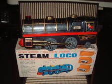 BANDAI BATTERY OPERATED, TRAIN, TIN STEAM LOCO NO. 4130 W/BOX & WORKING! RARE!