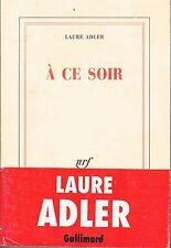 LAURE ADLER A ce soir +  PARIS POSTER GUIDE