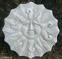 Plastic lion Sun plaque mold concrete plaster casting garden mould