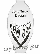 Stencil for painting wing and feather detail on Juvy Snow Goose Windsock Decoys