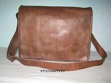 """Leather Messenger Bag 13"""" MacBook Air Pro Messenger College School Shoulder Bag"""