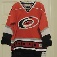 NHL REEBOK Premier Carolina Hurricanes Hockey Jersey New Youth L/XL MSRP $80