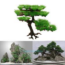 Artificial Plastic Pine Tree Aquarium Fish Tank Rockery Bonsai Ornament Decor