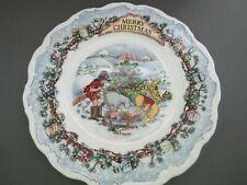MERRY CHRISTMAS POOH PLATE WINNIE THE POOH COLLECTION ROYAL DOULTON DISNEY