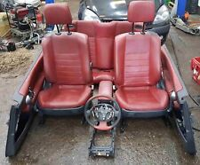 Renault Megane Convertible MK2 2002-2008 Red Leather Interior Cards Seats Cards