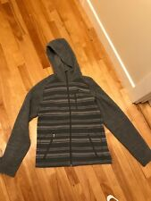 Patagonia Men's Better Sweater, Small, Full Zip with Hood, Grey stripes