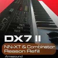 YAMAHA DX7 II REASON REFILL SAMPLES for 96 NNXT & COMBINATOR 1040 SAMPLES 24bit