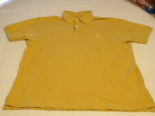 Faconnable Designed in France Polo Mens cotton short sleeve shirt M mustard GUC@
