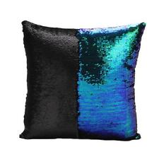 Square Sequin Mermaid Bright Color Sofa Bed Auto Cushion Cover Pillow Case - CB