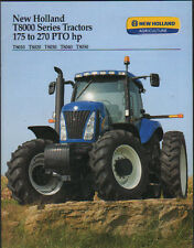"New Holland 175 to 270hp ""T8000 Series"" Tractor Brochure Leaflet"