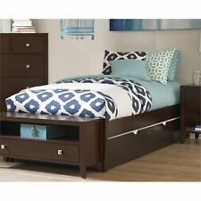 Ne Kids Pulse Full Platform Bed with Trundle in Chocolate