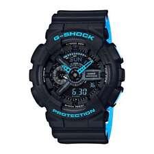 Casio G Shock Black Blue Dial Multifunction Analog Digital Watch GA110LN-1A