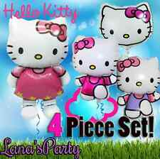 ❤ 4 LOT HELLO KITTY  BALLOONS  BIRTHDAY FOIL PARTY DISNEY ❤ FOIL SANRIO MYLAR