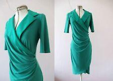 Joseph Ribkoff Kelly Green Mock Wrap Dress Small 3+Itemsfor FREE Post