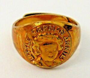 1934 LITTLE ORPHAN ANNIE Portrait Ring Ovaltine Radio Show Premium HI-GRADE fl