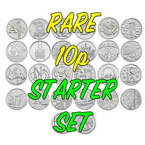 Rare Alphabet 10p Coin Collectors Starter Set - 10ps - COIN HUNT FREE SHIPPING