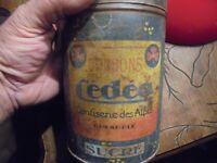Ancien Boite vide de Bonbons Cédéo de la Confiserie des Alpes à Grenoble