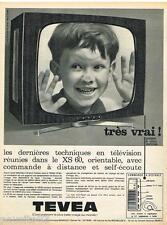 PUBLICITE ADVERTISING 105  1964   TEVEA  téléviseur XS 60