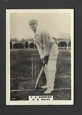 PHILLIPS - CRICKETERS (BROWN, LARGE) - #1C T J ANDREWS, NEW SOUTH WALES