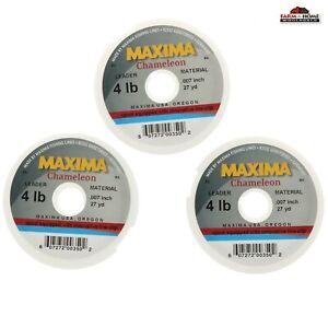 3 Maxima Chameleon Fly Fishing Line Leader Wheel 4 LB ~ NEW