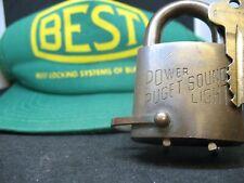 Puget Power Sound Light brass padlock/advertising lock/locksmith/best padlock