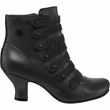 Zip 100% Leather Wide (E) Boots for Women