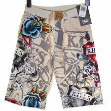 "Mens Ed Hardy Shorts Beach Lounge Sleep Pyjama Christian Audigier RRP$99 W28-30"""