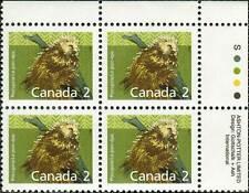Canada sc#1156 Mammal : Porcupine, Ur Imprint Block, Mint-Nh