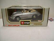 """Porsche 356B Cabrio """"AUTODROM"""", 1961, silver, Bburago (Made in Italy) 1:18, OVP"""