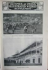 1910 INDIA ~ TIMES of INDIA CALCUTTA RACES PADDOCK DAY OF TRIALS STANDS CUP DAY