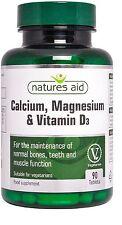 Natures Aid Calcium, Magnesium & Vitamin D3 x 90 Osteoporosis,Menopause