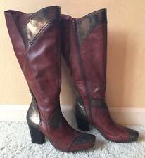 Paolo Iantorno Leather Boots Women's 36.5 Italy 6-6.5 US NEVER WORN OUTSIDE