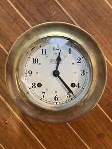 Weems & Plath Brass Ship's Clock
