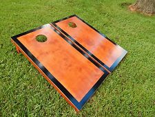 Regulation Black Border Gunstock Stained Cornhole Boards Bags Not Included