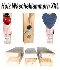 Holz Wäscheklammern XXL Große Holzklammer Mega Klammer Memoklammer Riesenklammer