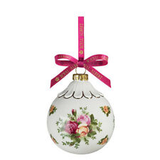Royal Albert Old Country Roses Holiday Ball Ornament