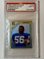 Rare LAWRENCE TAYLOR 1982 Topps Stickers #144 ROOKIE RC Coming Soon - PSA 9 MINT