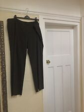MARKS & SPENCER GREY MIX WIDE LEG TROUSERS SIZE 22 MEDIUM
