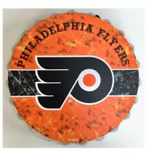 "Philadelphia Flyers NHL Logo Bottle Top 13.5"" Hanging Wall Art Decoration"