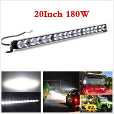 "Single Row 20"" 180W 18000LM Aluminum 4D Lens Spot Beam Slim LED Work Light Bar"
