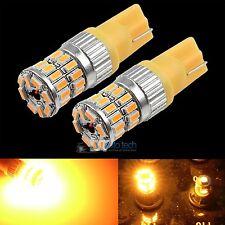 2X T10 168 Amber Yellow High Power 3014 Chip Interior High Power LED Light Bulbs
